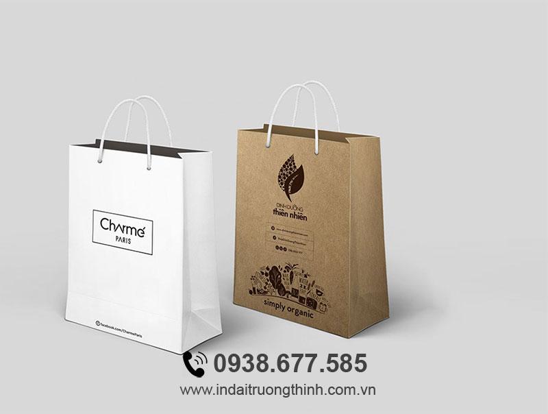 Mẫu túi giấy cho shop